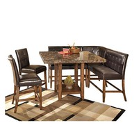 """Rent Ashley """"Lacey"""" 6-Piece Bar-Height Dining Room Set"""