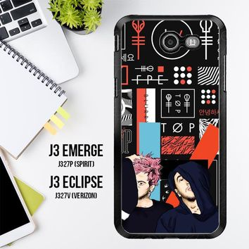 Twenty One Pilots Skeleton Clique X3471 Samsung Galaxy J3 Emerge, J3 Eclipse , Amp Prime 2, Express Prime 2 2017 SM J327 Case