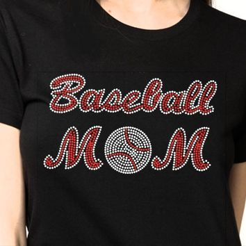 Bling T-Shirt  | Women Baseball Rhinestones - SHIRT | Shop!