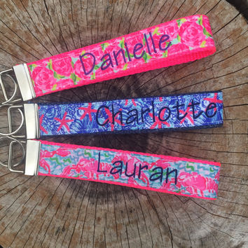 Designer Inspired Key Chains - Personalized Sorority Key Chains - Sorority Key Chains - Personalized Key Fob - Monogrammed Keychain