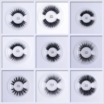 9 Styles Delicate 1 Pair 3D Soft Silk Protein False Eyelashes Extension Full Strip Lashes Makeup for Women Beauty Fake Eyelashes