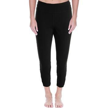 Lauren Ralph Lauren Womens Active Colorblock Capri Yoga Legging