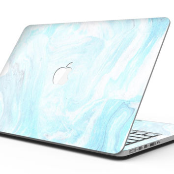 Mixtured Blue v9 Textured Marble - MacBook Pro with Retina Display Full-Coverage Skin Kit