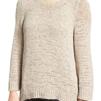 Eileen Fisher Rustic Open Stitch Crewneck Sweater | Nordstrom
