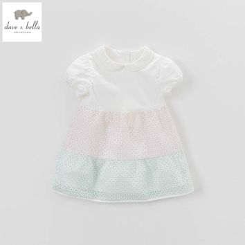 DB5059 davebella summer baby girl vintage style princess dress baby retro dress kids birthday clothes dress children costumes