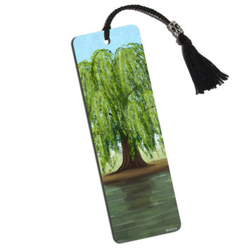 Old Weeping Willow Tree Printed Bookmark