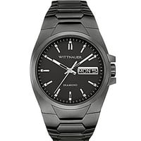 Wittnauer Men's Black IP Stainless Steel 3-Hand Watch