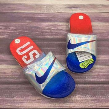 ONETOW Nike Woman Men Fashion Casual Multicolor Sandals Slipper Shoes Red