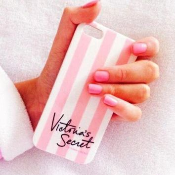 Perfect Victoria's Secret Fashion Stripe iPhone Phone Cover Case For iphone 6 6s 6plus 6s-plus 7 7plus