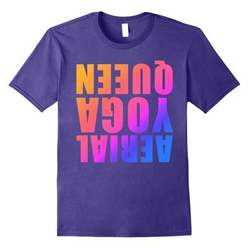 Aerial Yoga Queen Ombre Upside Down T-Shirt