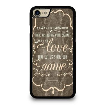 THE AVETT BROTHERS QUOTES iPhone 7 Case Cover