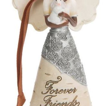 Forever Friends Angel with Bunny Christmas Tree Ornament