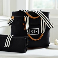 Black Classic Tote Diaper Bag | Pottery Barn Kids