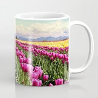 Tulip field Mug by Sylvia Cook Photography