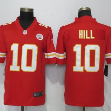 New Nike Kansas City Chiefs 10 Hill Red 2017 Vapor Untouchable Limited Player