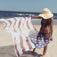 Lookin' for Adventure American Flag Scarf