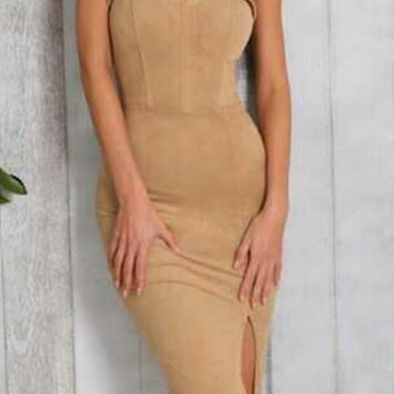 Kira Suede Seduction Dress