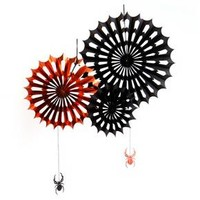 3ct Halloween Spider Web Accordion Fans - Hyde and Eek! Boutique™