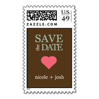 Modern Sweetheart Save The Date Postage Stamp