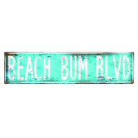 BEACH BUM BLVD SIGN