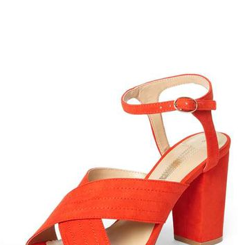 Orange 'Spring' Cross Over Sandals - View All New In - New In