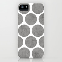 gray polka dots iPhone & iPod Case by Her Art