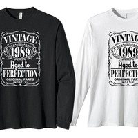Vintage 1989 Aged To Perfection Mostly Original Parts for long sleeves heppy fit & sizing standart us