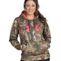 Under Armour Women's Real Tree Camo with Pink Logo Fleece Hoody