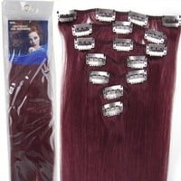 20''7pcs Fashional Clips in Remy Human Hair Extensions 24 Colors for Women Beauty Hot Sale (bug)