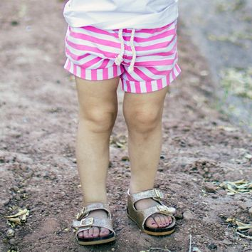 Pink Striped Shorts | Toddler Shorts