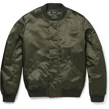 A.P.C. - Satin-Twill Bomber Jacket | MR PORTER