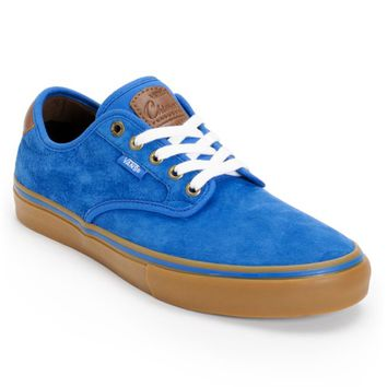 Vans Chima Pro Royal Blue & Gum Suede Skate Shoes (Men's)