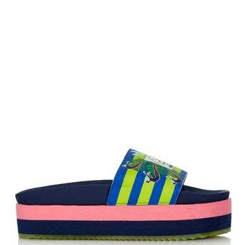 Adilette No Diving-print flatform slides | adidas Originals By Mary Katrantzou | MATCHESFASHION.COM US