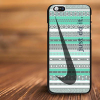 nike just do it aztec mint For iPhone 4/s, 5/s, 5c,6, 6+ and Samsung S3, S4, S5 Case Plastic or Rubber