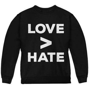 CUPUPWL Activist Love is Greater Than Hate Youth Sweatshirt