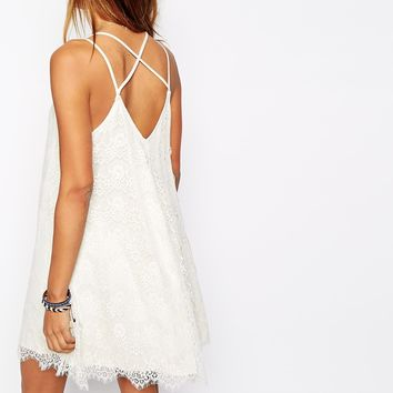 1665339bc16bb Abercrombie & Fitch Eye Lash Lace Cami Swing Dress