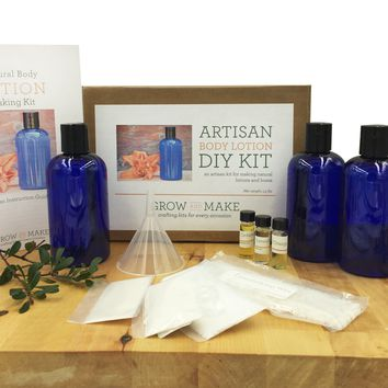 Artisan DIY Body Lotion Making Kit - Learn how to make your own high quality body lotion at home