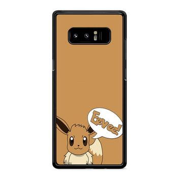 Pokemon Cute Eevee 2 Samsung Galaxy Note 8 Case