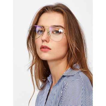Penny- Clear Aviator Glasses
