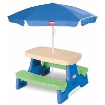 Little Tikes Easy Store Jr. Play Table with Umbrella - Walmart.com