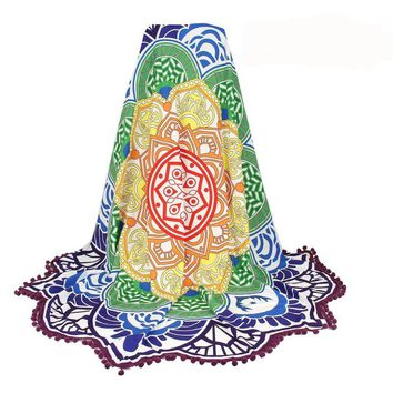 Indian Round Mandala Tapestry Wall Hanging Throw Towel Boho Beach Yoga Mat Decor