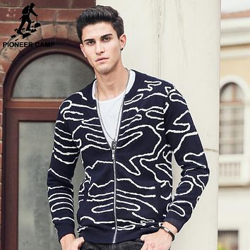 men sweater clothing high quality Hip hop street wear new fashion male striped cardigans sweaters for