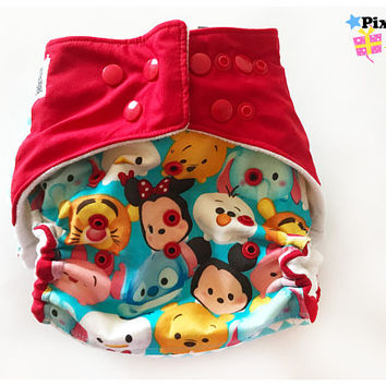 Mickey Mouse Stackables Embroidered One Size Cloth Diaper, Pocket Diaper (Photoshoot)
