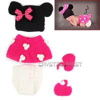 born Unisex Baby Boys Girls Crochet Knitted Pography Props Costume Clothes