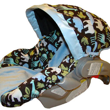 Infant Car Seat Cover  Baby Car Seat Cover  Blue by sassycovers