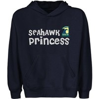 UNC Wilmington Seahawks Youth Princess Pullover Hoodie - Navy Blue