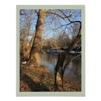 Creek with Trees Poster