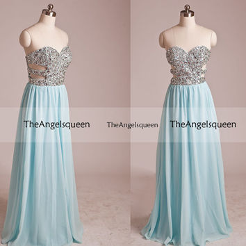 Fashion Sparkling All Sequins Strapless Cross Back Long Party Dress,Bridesmaid dresses,cocktail dresses,evening dresses,senior prom dress
