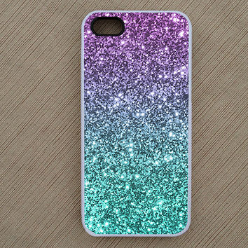 Glitter Ombre Fade Pattern iPhone Case, iPhone 5 Case, iPhone 4 Case, iPhone 4S Case - Not Real Glitter - SKU: 100