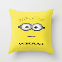 Despicable Minion -Whaat Throw Pillow by Iva Ivanova ART